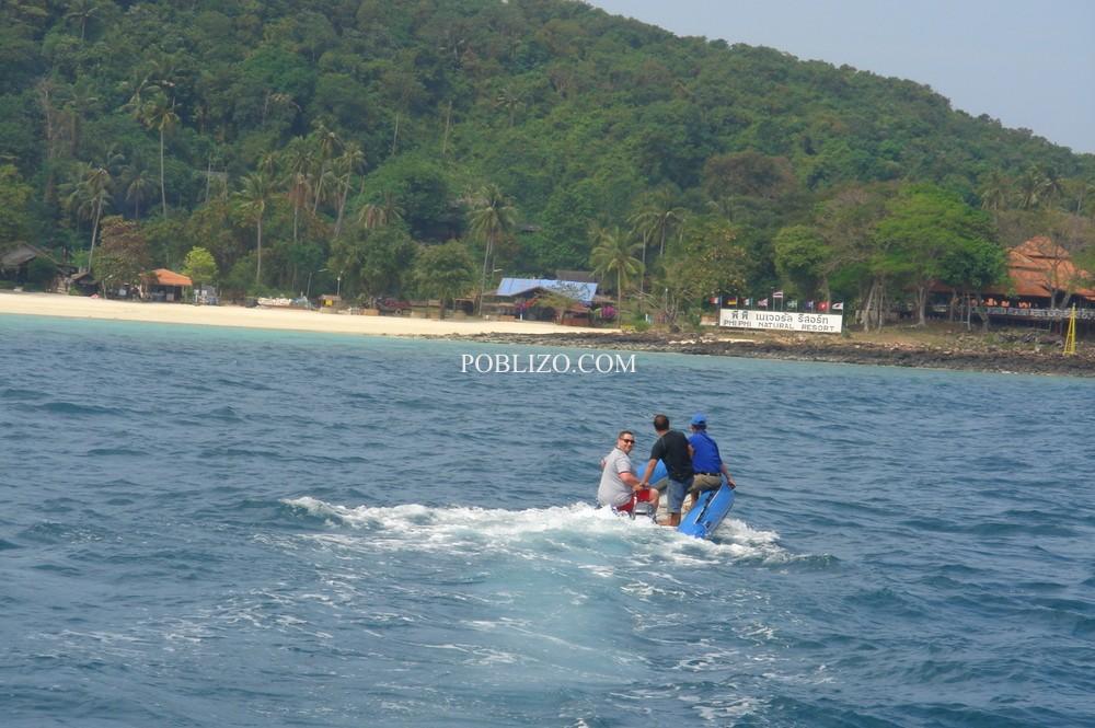 Островът, на който е сниман филмът Плажът
