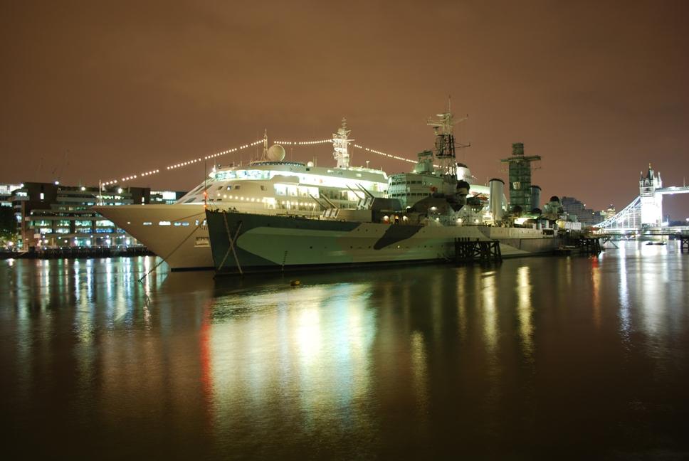 Боен кораб Белфаст, Лондон