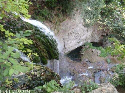 Поглед към водопада от горе
