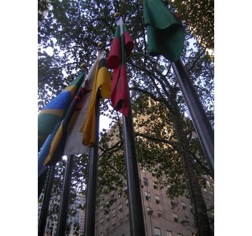Българското знаме пред Рокфелер Център