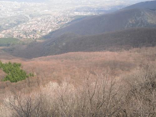 Изглед от планината към столицата