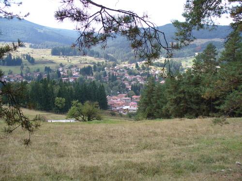 Гледка към Копривщица от екопътеката