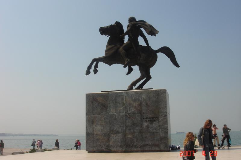 Солун - паметник на Ал.Македонски
