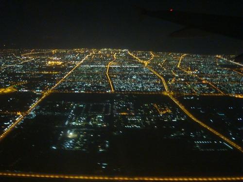 Дубай- гледка от самолета