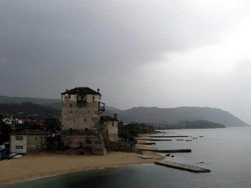 Пристанът на Уранополис,вход към Света Гора