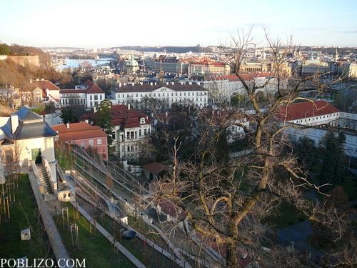 Панорамна гледка към Прага от Храдчани