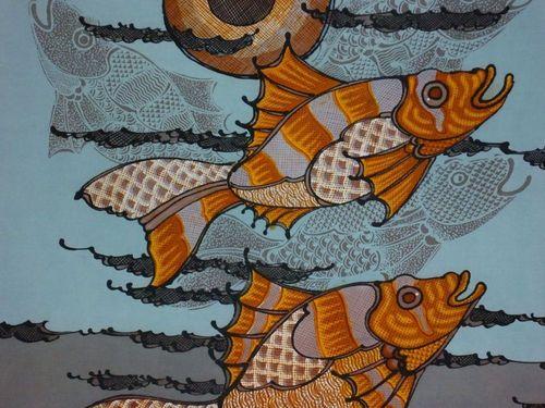 Пано рисувана коприна