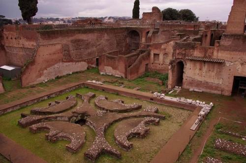 Запазени части от градините на Палатино