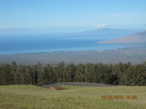Поглед към Западен Мауи от склоновете на Халеакала