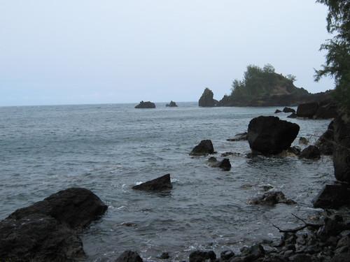 Живописният бряг на Хана под дъжда