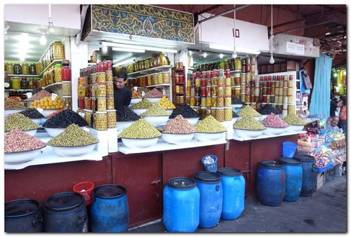 пазар за подправки в Маракеш