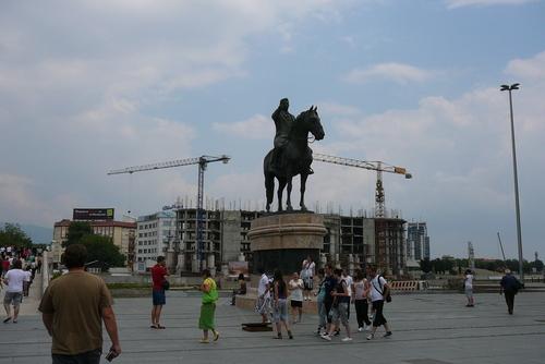 Скулптура на централния площад