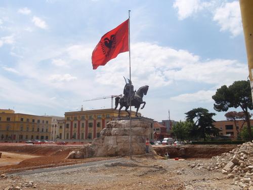 Паметникът на Скендербег