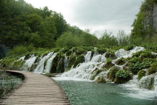 Дървените пътеки Ви водят направо върху водата