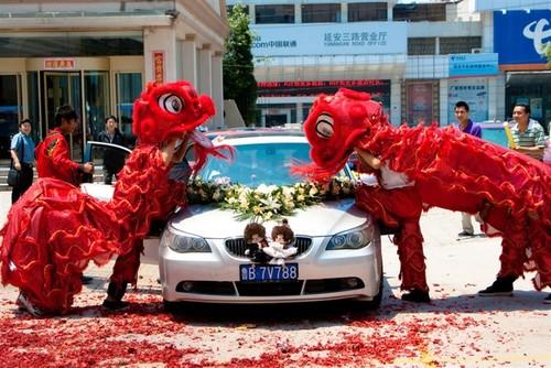 Сватбата е в северния китайски град Чиндао