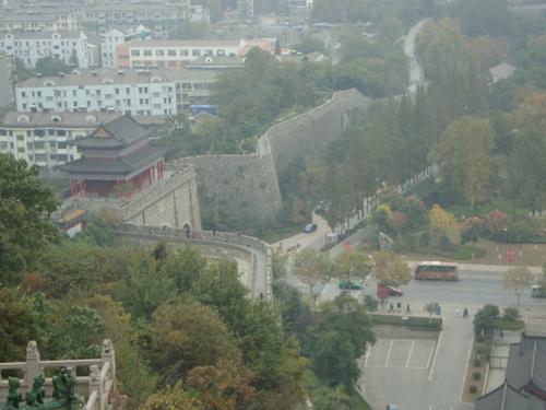Гледка към градската стена