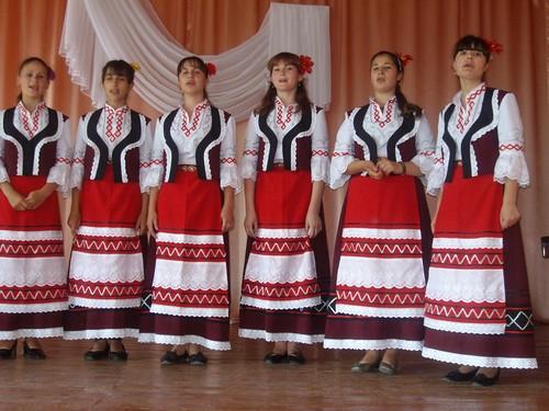 Част от концерта в село Огородное