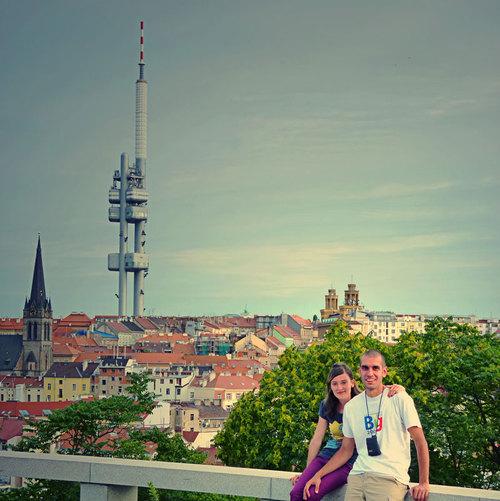 Гледка към ТВ кула Жижков