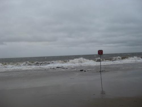 Небето и океана по време на урагана Айрийн