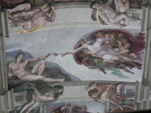 Сикстинската капела, Сътворението на Адам, Микеланджело.