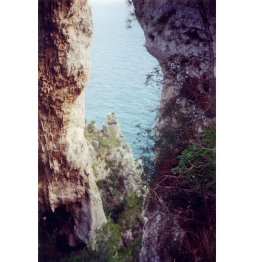 Капри – изглед към морето.