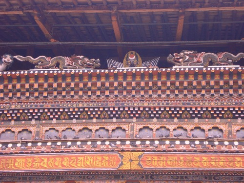 WOODEN CARVINGS THIMPHU DZONG