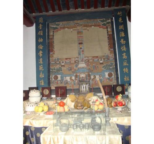 Олтар в жертвените покои на предците
