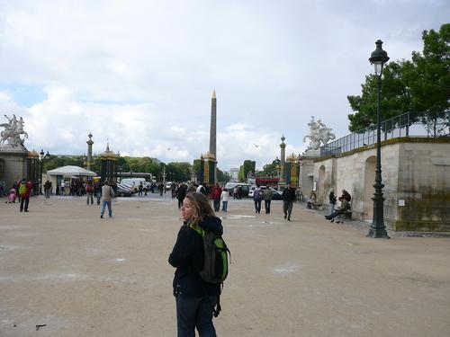 Наближавам площад Конкорд, в далечен план - египетският обелиск