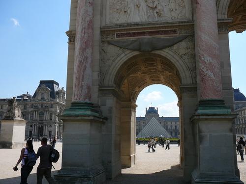 Изглед от Триумфалната арка към Лувъра