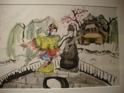 От колекцията на музея - рисунка на Бялата змия с нейната приятелка Зелената змия