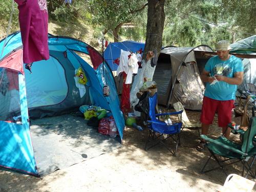 Къмпинг Лихнос, палатката