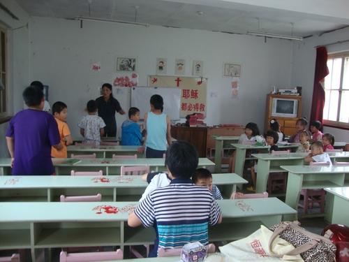 В класната стая на Неделното училище