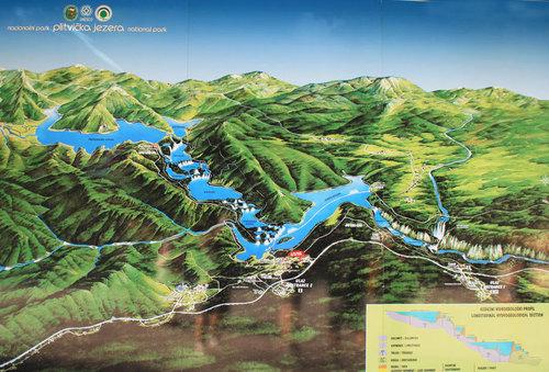 Карта на Плитвичките езера