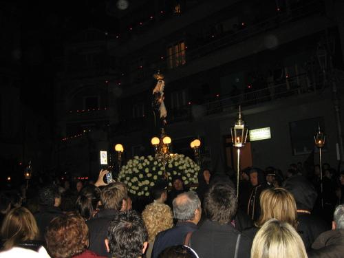 Соренто, ритуалното шествие, статуя на Дева Мария