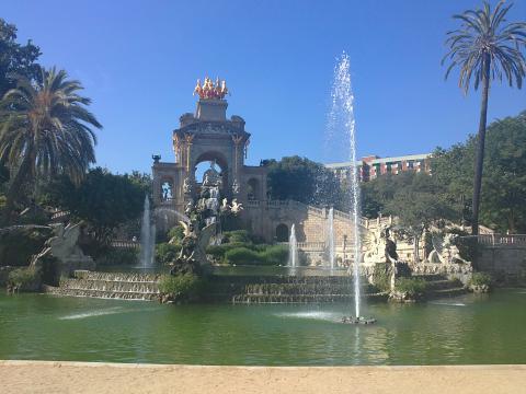 Барселона, Фонтанът в Парка на Цитаделата