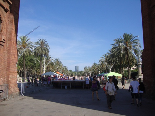 Барселона, Палмовата алея към Парка на Цитаделата