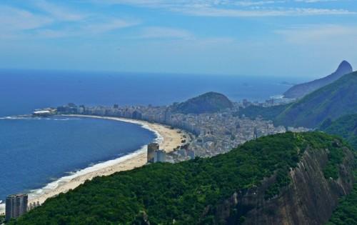 Плажът на Копакабана от Sugarloaf