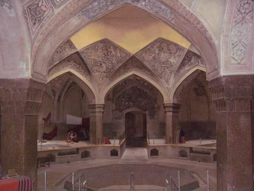 Реставрираната и превърната в музей обществена баня (хаммам) Вакил в град Шираз