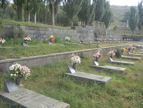 Мемориално гробище в Сисиан на арменски бойци, загинали във войната за независим Арцах