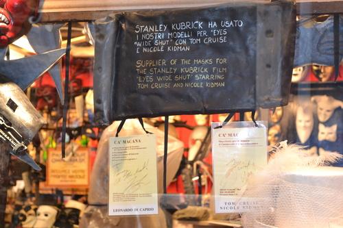 Венеция, Работилница за карнавални маски с автографите на Том Круз, Никол Кидман и Леонардо Дикаприо