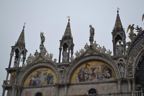Венеция, Базиликата Сан Марко, детайл от покрива