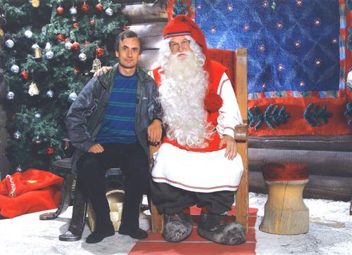 The official photo with Santa Claus