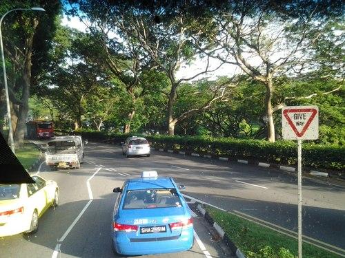 Пътят от летище Чанги към Марина Бей Сандс