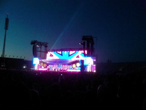 По време на концерта