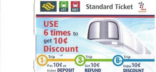 Билет за Сингапурското метро
