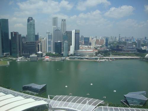 Поглед от 41 етаж на Марина Бей Сандс