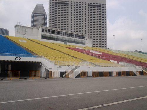 Част от трибуните на плаващия стадион