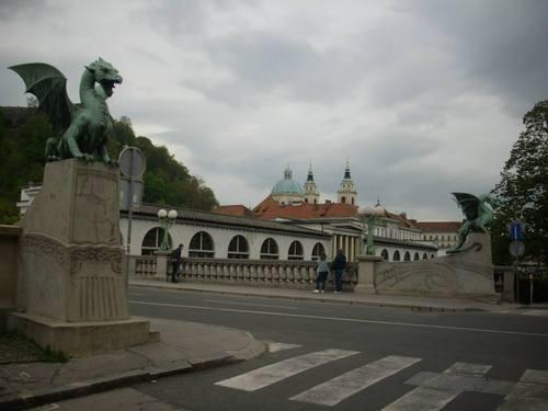 Любляна, Мостът с драконите