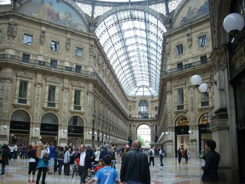Милано, под купола на Пасажа