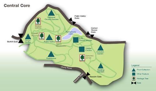 Карта на Ботаническата градина